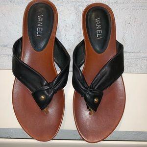 Vaneli leather top slip on sandal